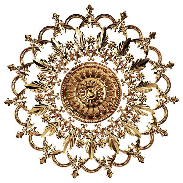 欧式复古金色花朵装饰高清图片,欧式装饰,金色花朵,装饰花纹,家居