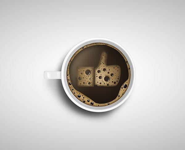 咖啡泡沫手势