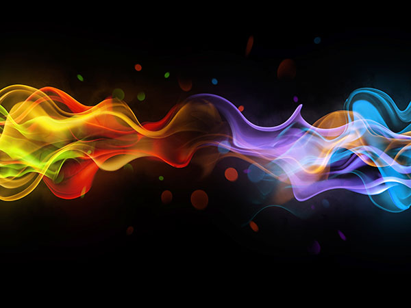 彩色线条抽象背景