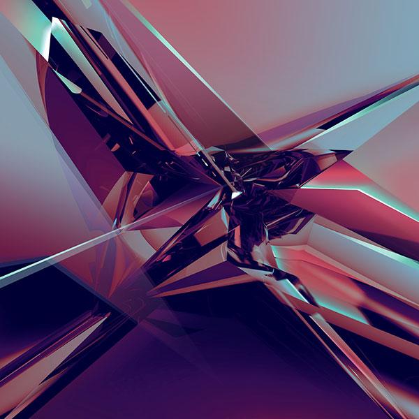 几何立体空间背景