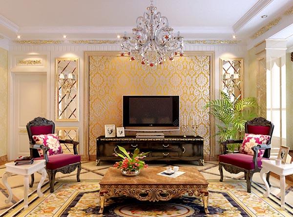 简欧式客厅模型