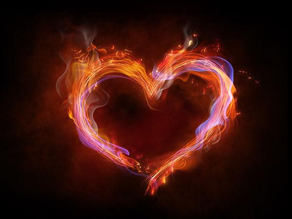 火焰心形图片