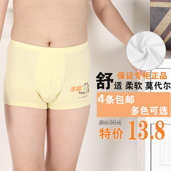 儿童内裤,莫代尔棉,内裤,平角内裤,纯棉内裤,小男孩内裤,主图,直通车