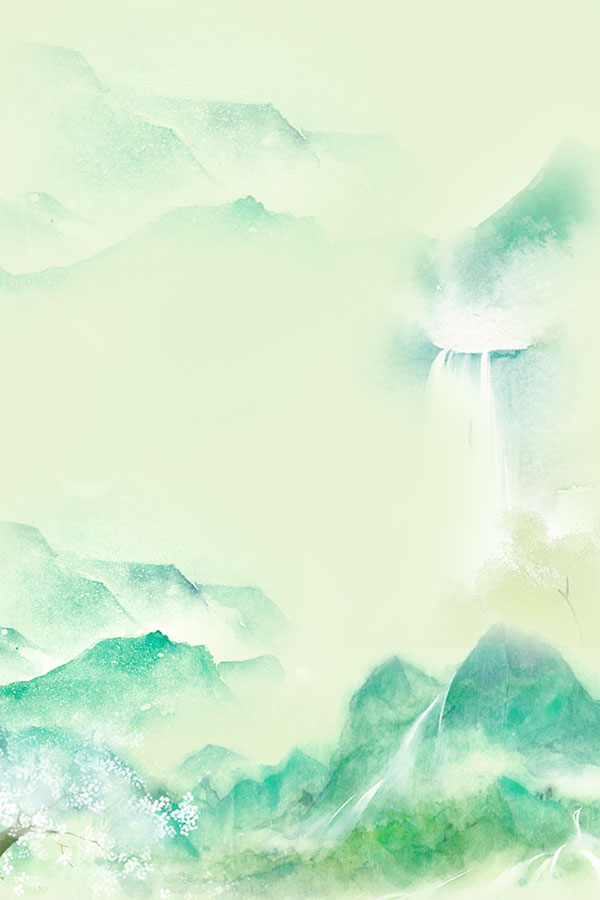 其它所需点数: 0 点 关键词: 水彩山水画海报背景psd分层素材,中国风