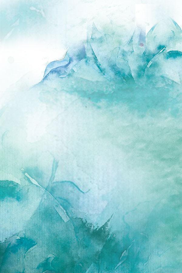 墨迹晕染海报背景psd分层素材,中国风底纹背景,水彩山水画,墨迹晕染