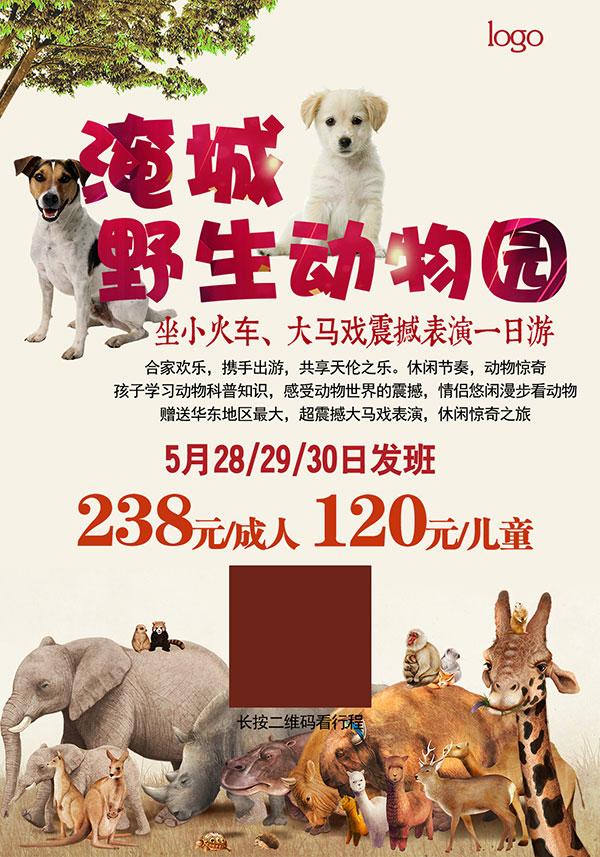 野生动物园海报