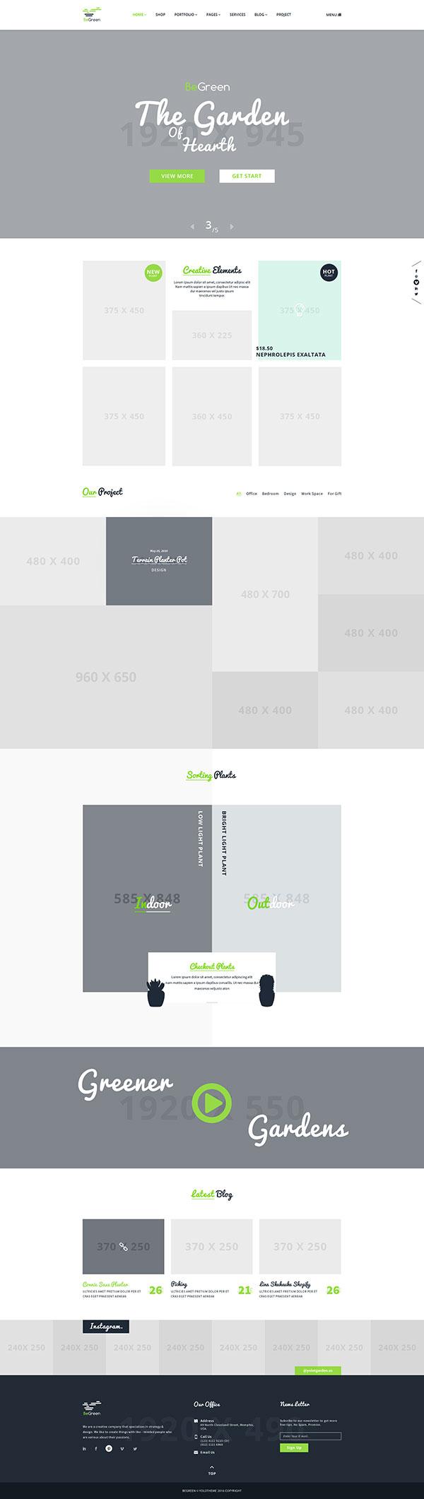 空白网站模板,精美版式设计国外网页设计模板,文艺范,个人网站,设计类