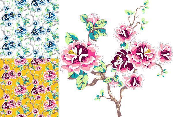 日系传统花卉图案