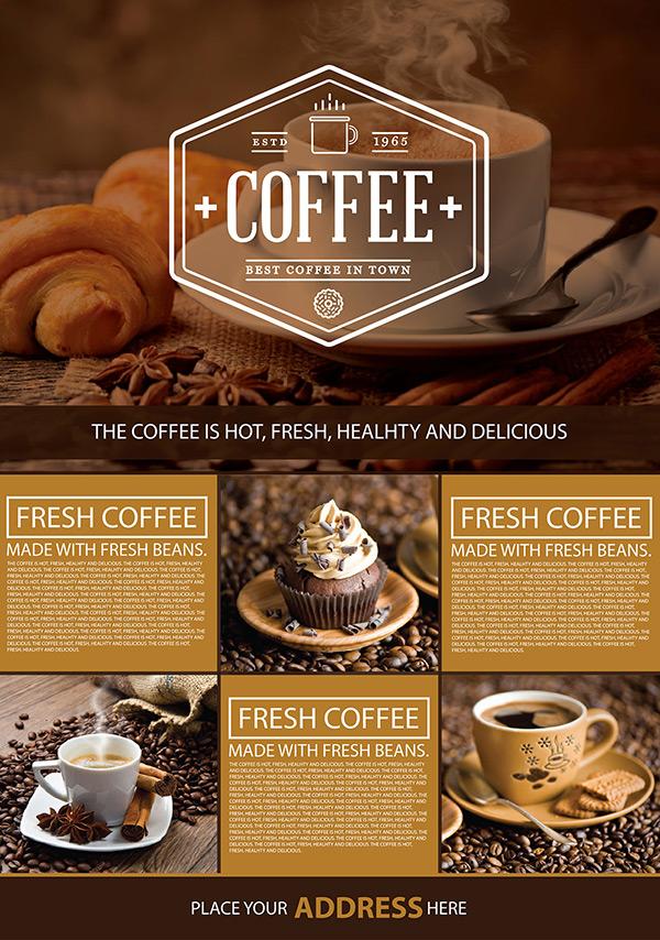 咖啡店宣传海报设计psd,咖啡店,宣传海报,coffice,咖啡豆,咖啡杯