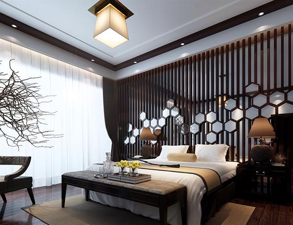 中式卧室模型