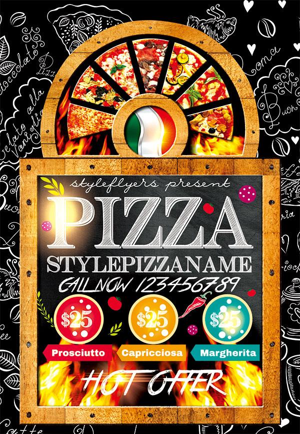 餐厅,餐饮,餐饮海报,餐厅海报,国外,宣传单,餐厅宣传单,披萨,手绘风
