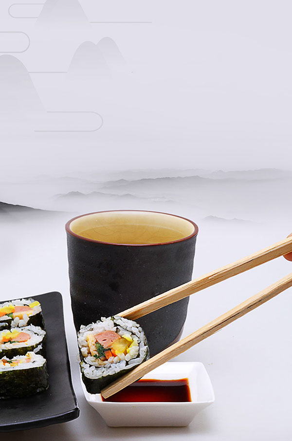 时尚寿司背景