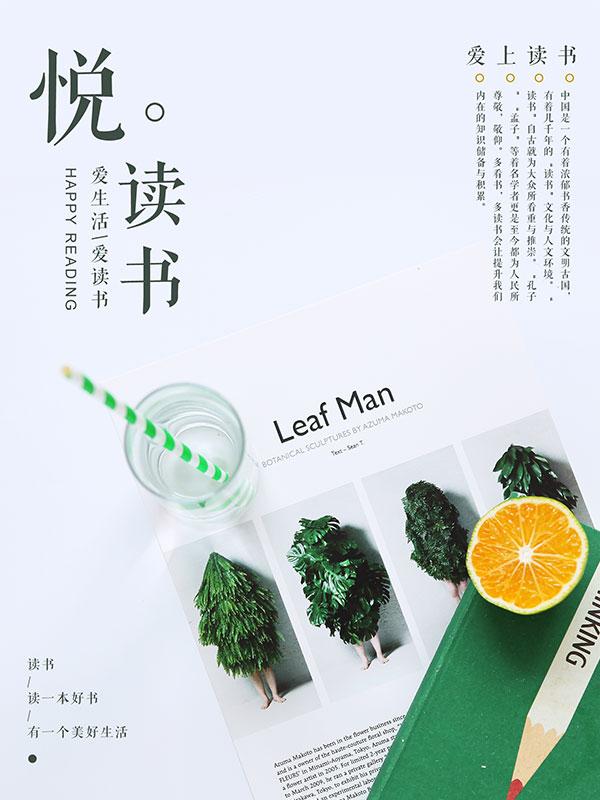 【清新文艺阅读海报