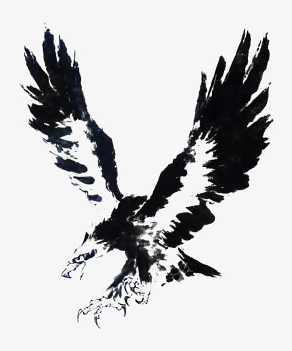 黑白水墨海雕