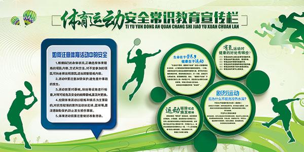 体育运动宣传展板