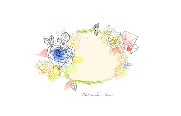 素材分类: 花纹边框所需点数: 0 点 关键词: 水彩线描花朵边框分层