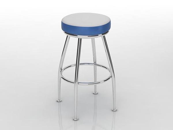 吧台蓝色凳子模型|