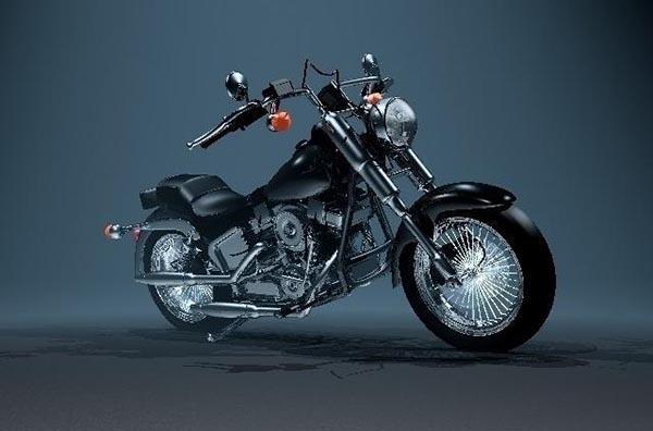 摩托车模型_摩托车