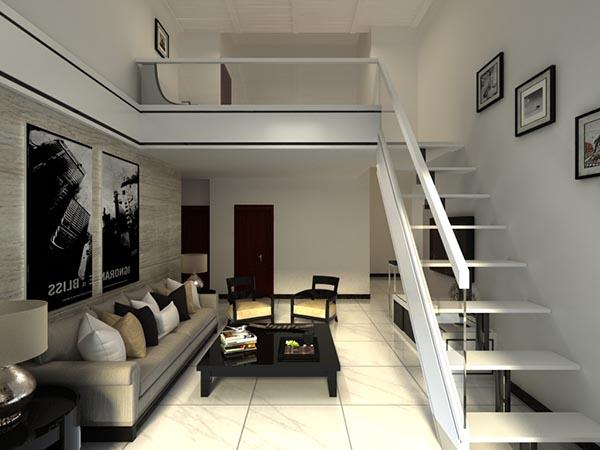 【现代复式客厅模型