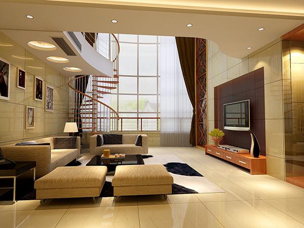 别墅客厅模型