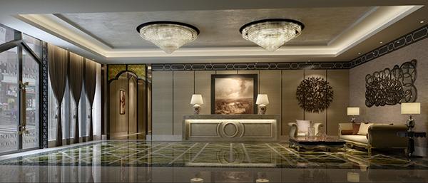 时尚酒店大厅模型