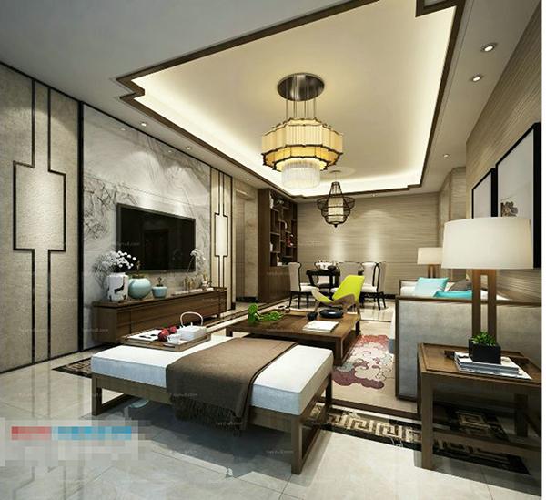 浪漫温馨客厅模型