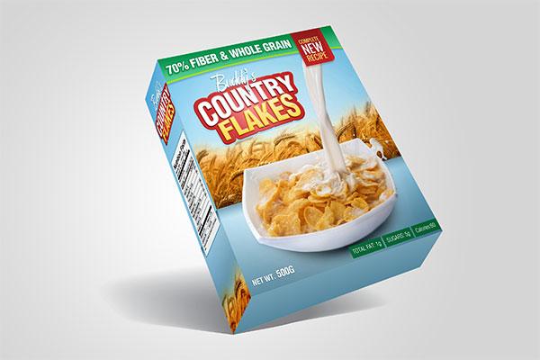 燕麦盒包装样机