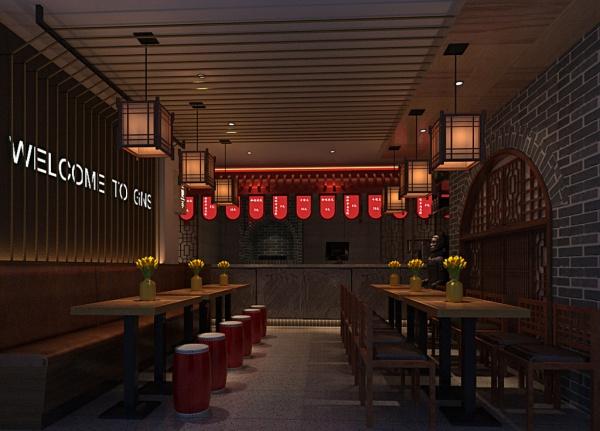 中国风图纸餐厅模具加工模型的绘制图片