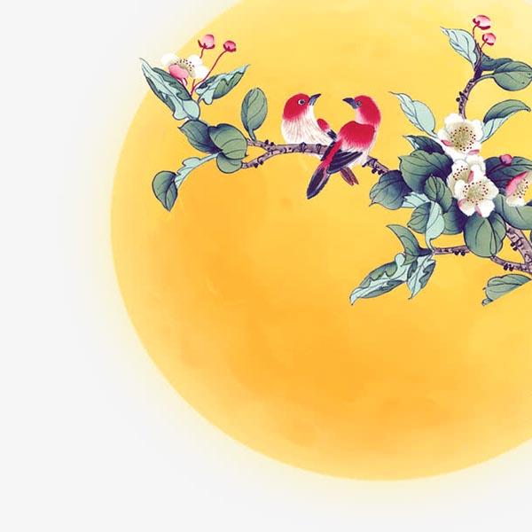 素材分类: 创意元素所需点数: 0 点 关键词: 中秋明月花鸟,花好月圆图片