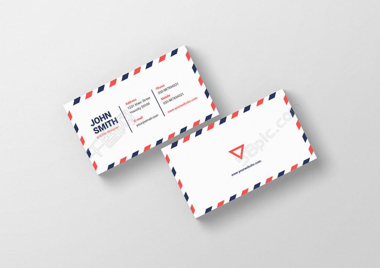 business,card,商务名片,创意名片,简约,清新,英伦,边框,psd 下载文件