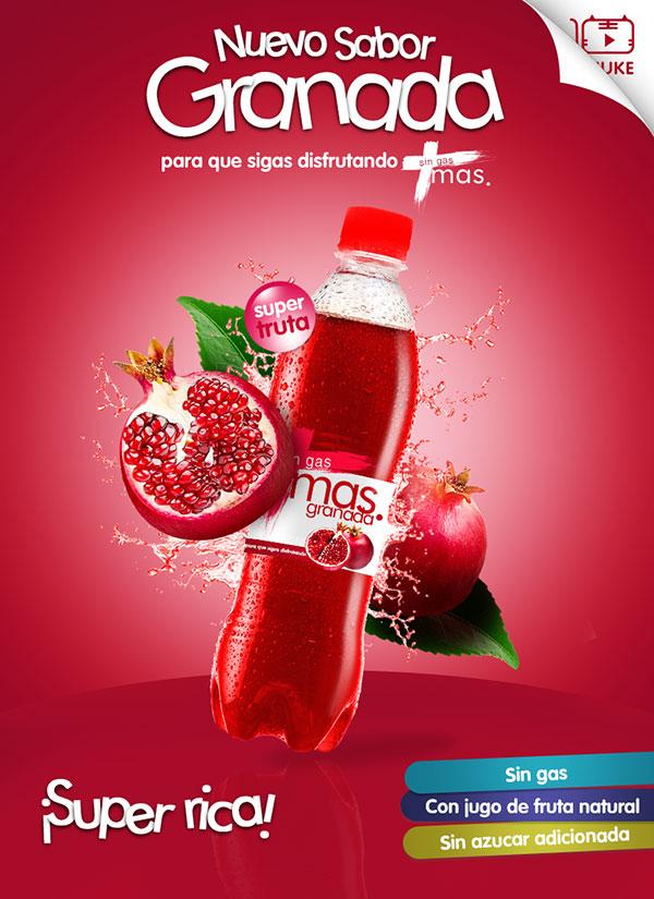 石榴汁饮料海报