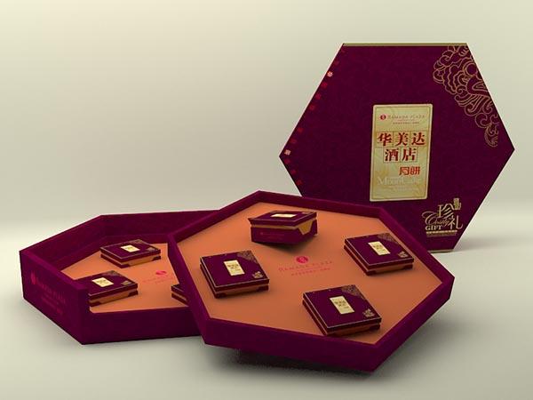 月饼盒包装模型