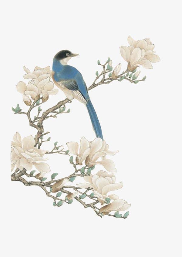 绘画艺术所需点数: 0 点 关键词: 工笔画树枝花鸟,树枝,花朵,工笔画