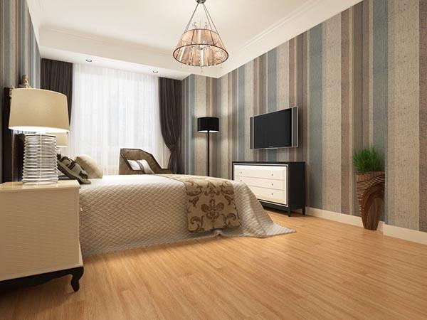 暖色系卧室模型
