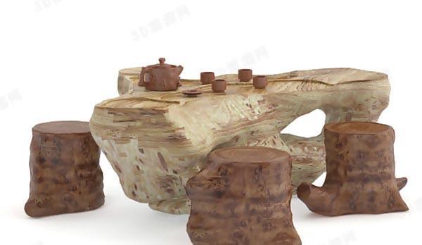 根雕桌椅模型
