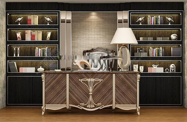 欧式书柜模型