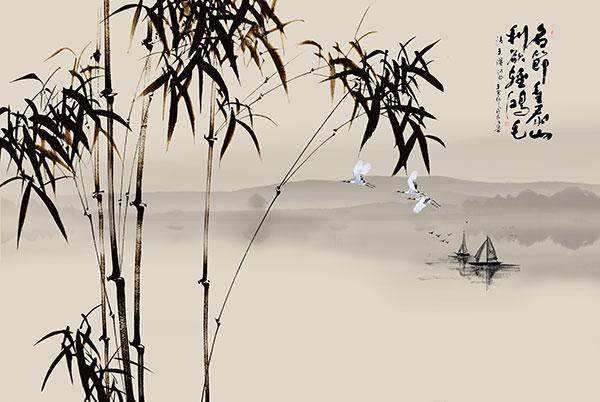 竹子水墨画