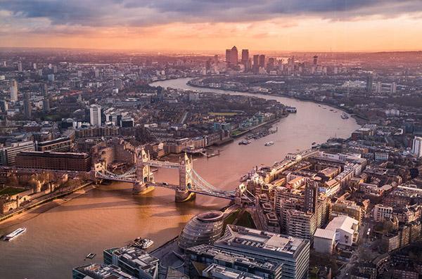 伦敦城市全景图片