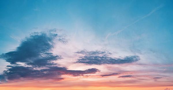 晚霞天空图片