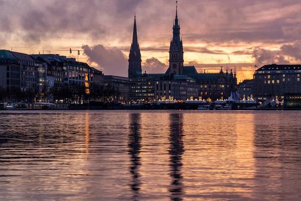 欧洲城市夜景