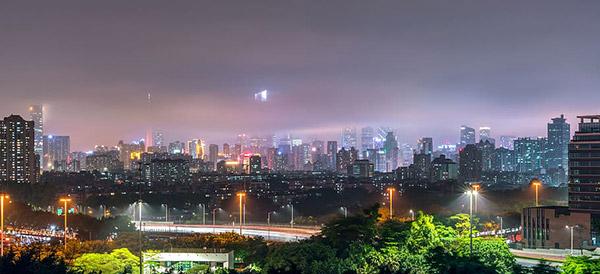 广州城市夜色图片