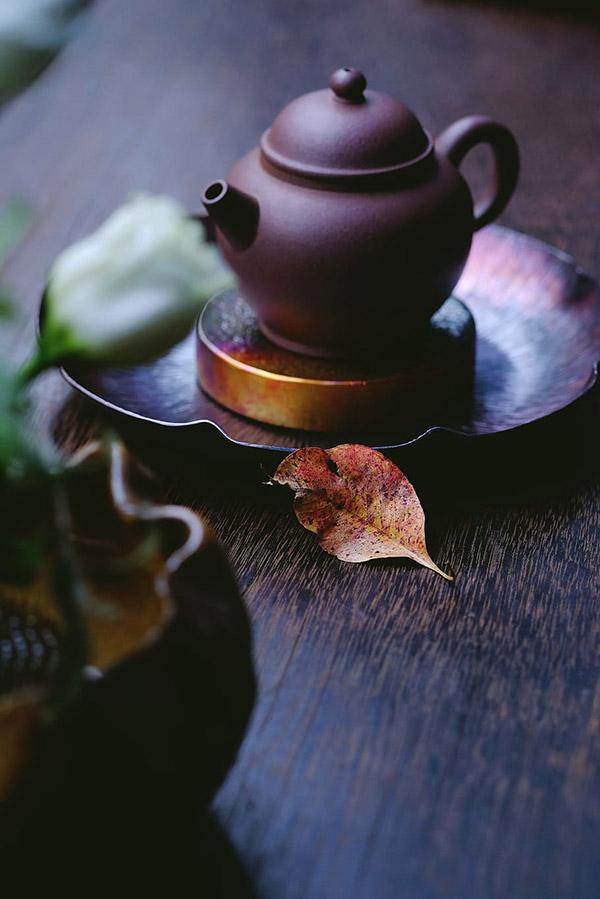 古朴茶壶图片