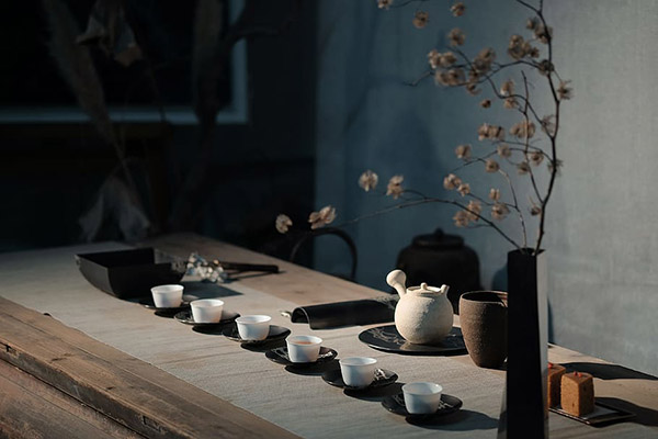 茶具摆设图片