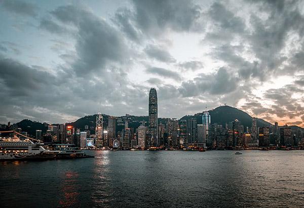 夜幕下的香港九龙