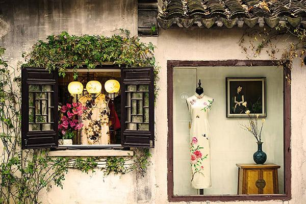 古朴旗袍店图片