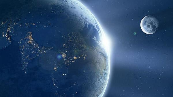 地球�c月亮