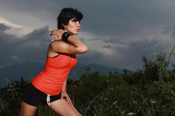 运动活力美女
