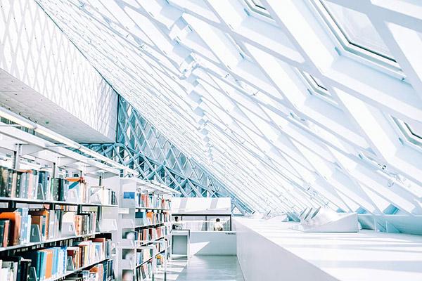 白色图书馆