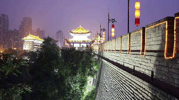 西安城墙夜景