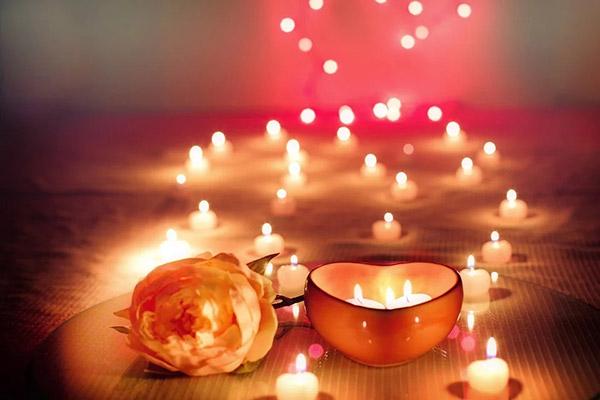 情人节烛光